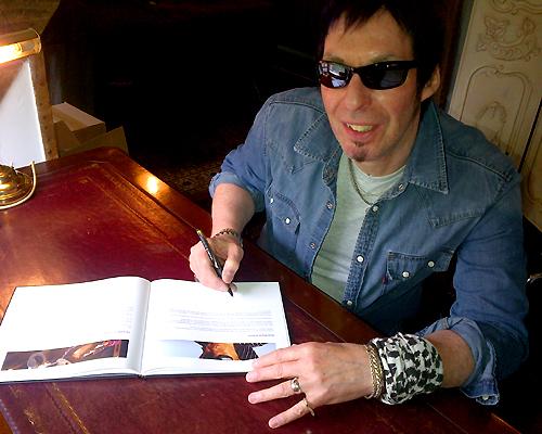 Nick signing