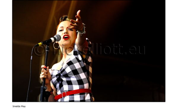 Imelda May performing live at Splendour Festival 19 July 2009