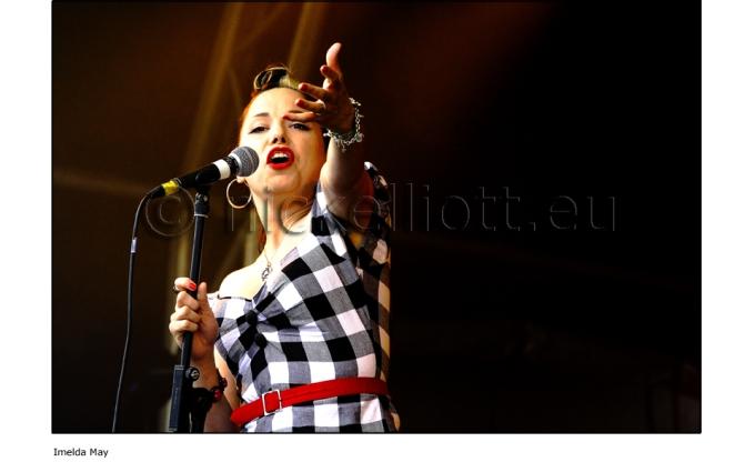 Imelda May performing live at Splendour Festival 19 July 2009