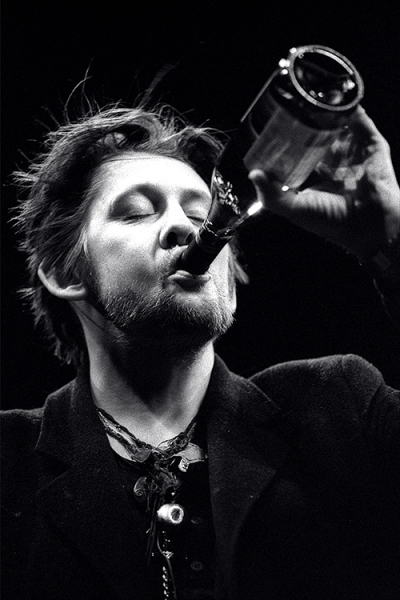 Shane MacGowan performing live at the Cambridge Corn Exchange