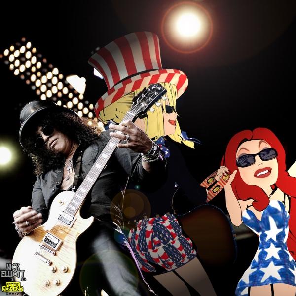 Slash performing live at High Voltage 2011