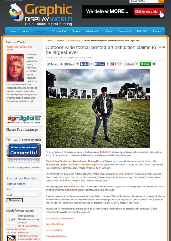 Press Coverage: Media Coverage: Graphic Display World